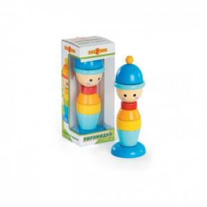 Деревянная игрушка  Пирамидка Мальчик Папа Карло