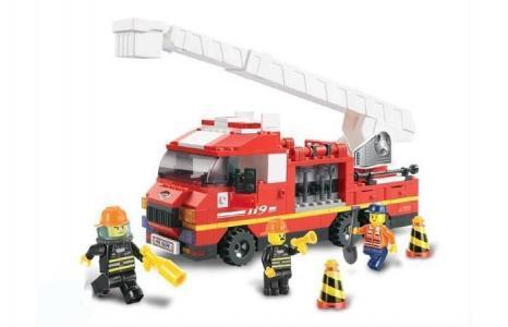 Конструктор  BOX Пожарные спасатели M38-B0221R (270 элементов) Sluban
