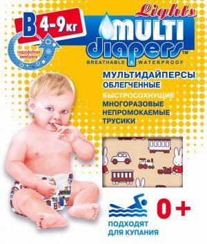 Многоразовые подгузники-трусики  Lights B (4-9 кг) 1 шт. Multi-Diapers