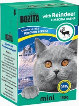 Влажный корм  Mini для взрослых кошек, олень, 190г Bozita