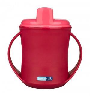 Чашка-поильник  2 в 1, с 18 месяцев, цвет: розовый Bebe Due