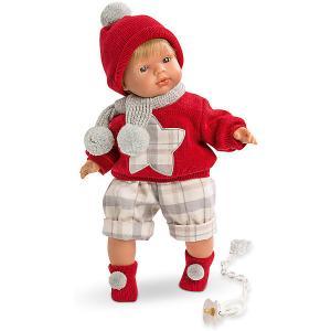 Кукла-пупс  Саша в красной кофточке и шортах, 38 см Llorens