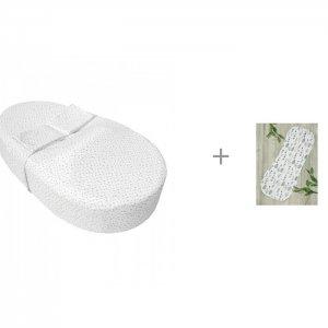 Пеленка  Кокон на молнии Soft Hugs Растения и Матрас-кокон Premium Form Звездопад AmaroBaby