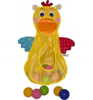 Игровой набор для ванны Ks Kids Голодный пеликан сетка с мячами K's