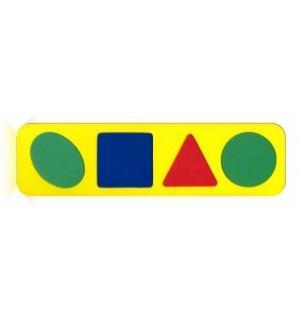 Рамка-вкладыш  Геометрические формы желтый Бомик