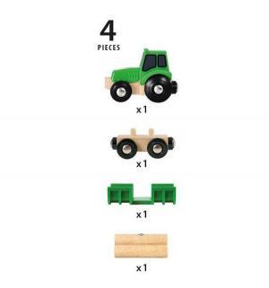 Трактор  с бревнами Brio