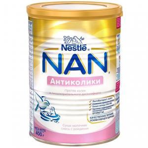 Заменитель молока  Антиколики 0-6 месяцев, 400 г Nan
