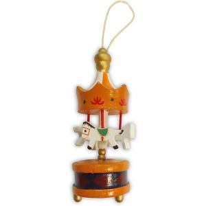 Украшение на ёлку  Карусель 9 см, оранжевая B&H. Цвет: разноцветный