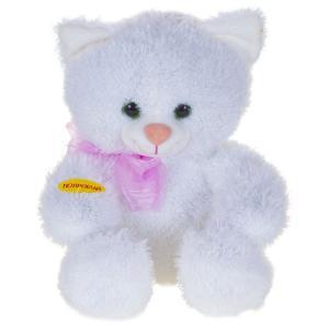 Интерактивная мягкая игрушка  Котик-светик 27 см цвет: белый Dream Makers