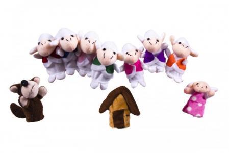 Детский пальчиковый кукольный театр Волк и семеро козлят Bradex