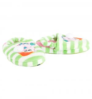 Тапочки , цвет: зеленый/белый Tingo
