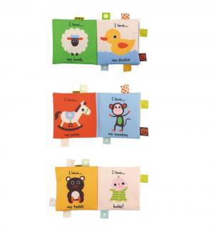 Мягкая игрушка-книжка Ks Kids Первый слова 14 см K's