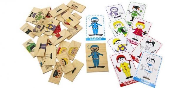Логическая игра Профессии Краснокамская игрушка