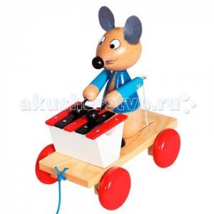Каталка-игрушка Mertens Каталка Мышка с ксилофоном Bino