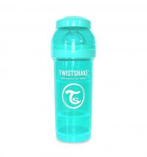 Бутылочка  для кормления антиколиковая пластик с рождения, 260 мл, цвет: синий Twistshake