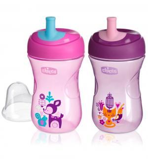 Чашка-поильник  Advanced Cup с трубочкой, цвет: розовый Chicco
