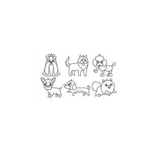 Набор мини-витражей  Весёлые собачки, 6 шт Amos