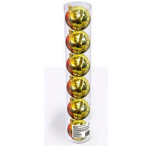 Набор елочных шаров  6 шт, см., золотые B&H. Цвет: разноцветный