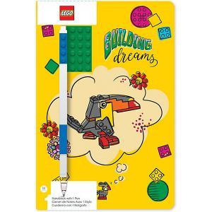 Записная книжка с ручкой  Classic Building Dreams, 192 листа LEGO. Цвет: желтый