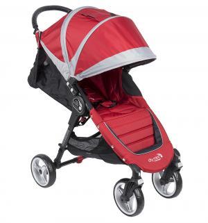 Прогулочная коляска  City Mini Single 4Weel, цвет: красный/серый Baby Jogger