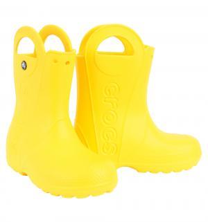 Резиновые сапоги  Handle It Rain Boot Kids, цвет: желтый Crocs