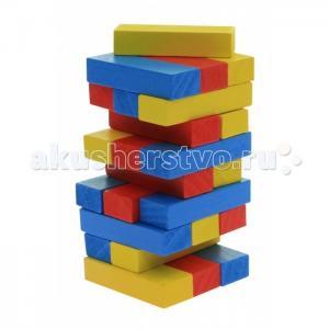 Деревянная игрушка  Игра Разоборная башня Дженга малая цветная Goki