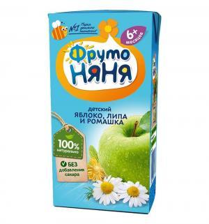Сок , яблоко-ромашка-липа 200 мл, 1 шт ФрутоНяня