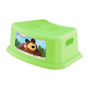 Подставка  Маша и Медведь, цвет: зеленый Бытпласт
