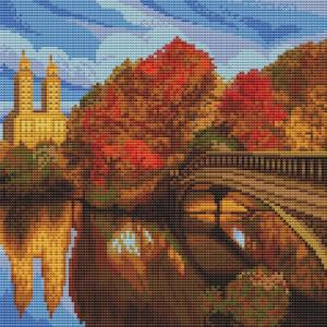 Картина мозаикой Парк в Нью-Йорке 30х30 см Molly