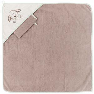 Полотенце-уголок Fanny & Oscar с варежкой Nattou