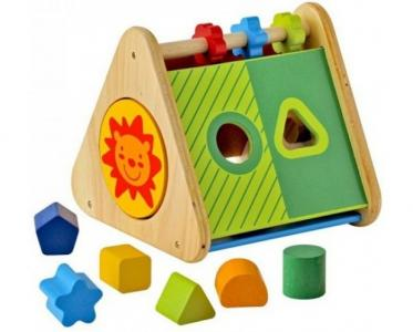 Деревянная игрушка Im toy Сортер Развивающий треугольник I'm