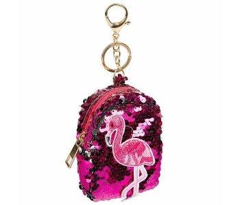 Сумочка-брелок Фламинго с пайетками Bondibon
