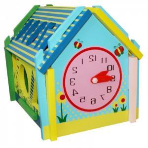 Деревянная игрушка  Логическая игра Домик фигур QiQu Wooden Toy Factory