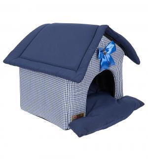 Лежанка для кошек  Ампир, цвет: синий, 45*40*45см Зоогурман