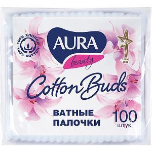 Ватные палочки AURA, 100 шт Cotton Club