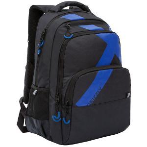 Рюкзак  RU-030-1 №2 Grizzly. Цвет: schwarz/blau