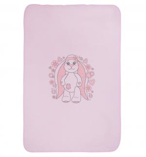 Плед  90 х 120 см, цвет: розовый Три медведя