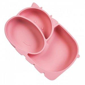 Тарелка детская силиконовая с секциями на присоске Бегемотик Baby Nice (ОТК)