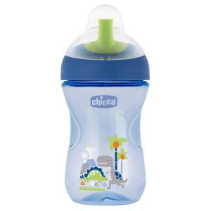 Чашка-поильник  Advanced Cup с трубочкой, 12 месяцев, цвет: синий Chicco