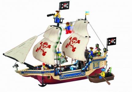 Конструктор  Пиратский корабль 311 (487 элементов) Enlighten Brick