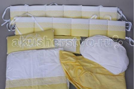 Комплект в кроватку  Нежность (6 предметов) Chepe