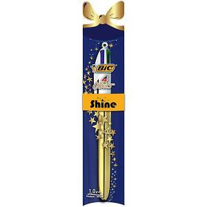 Шариковая ручка  4 Colours Shine, Новогодняя упаковка BIC