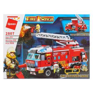 , Конструктор пластиковый Пожарная машина с фигурками, 366дет. Enlighten Brick