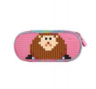 Пенал  Super class pencil case пиксельный розовый Upixel