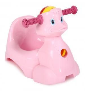 Горшок  Уточка, цвет: розовый Plastic Centre
