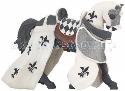Игровая реалистичная фигурка Белая драпированная лошадь Papo