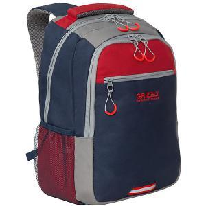 Рюкзак  RU-922-3 №2 Grizzly. Цвет: синий/красный