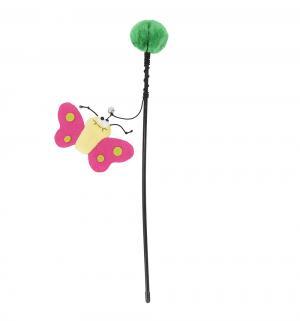 Игрушка для кошек  Удочка с бабочкой, цвет: разноцветный, 40см I.P.T.S.