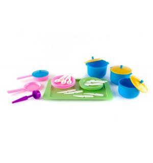 Игровой набор посуды  Вкусный ужин Плейдорадо