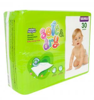 Пеленки  Soft&Dry 60х90 см, 30 шт Helen Harper